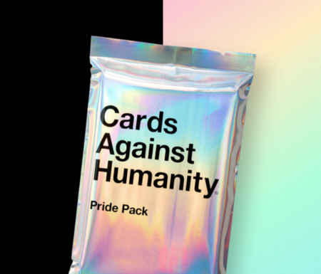 Packet of rainbow cards against humanity pride pack
